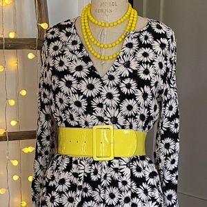 F21 cold shoulder, daisy mini dress